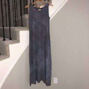 Steel Pony • Boho Artesian Gray Maxi Dress